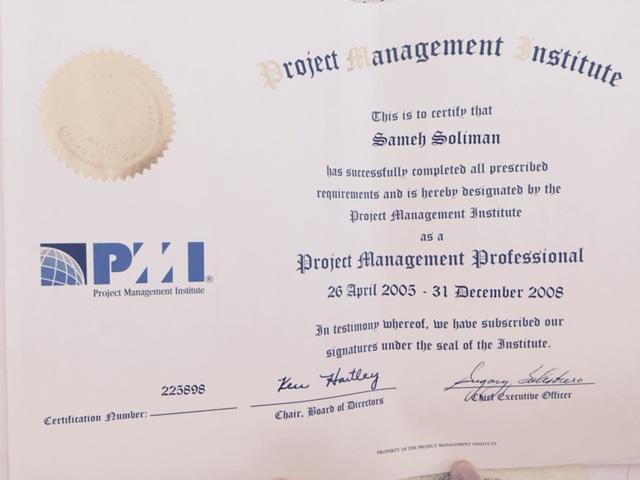 Samehs Pmp Certificate Samehsoliman